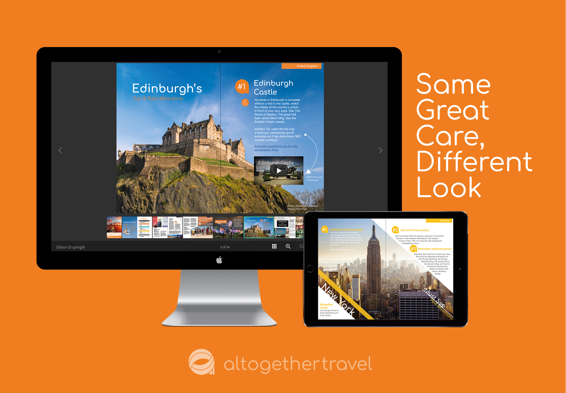 Altogether Travel Rebrand and Publication